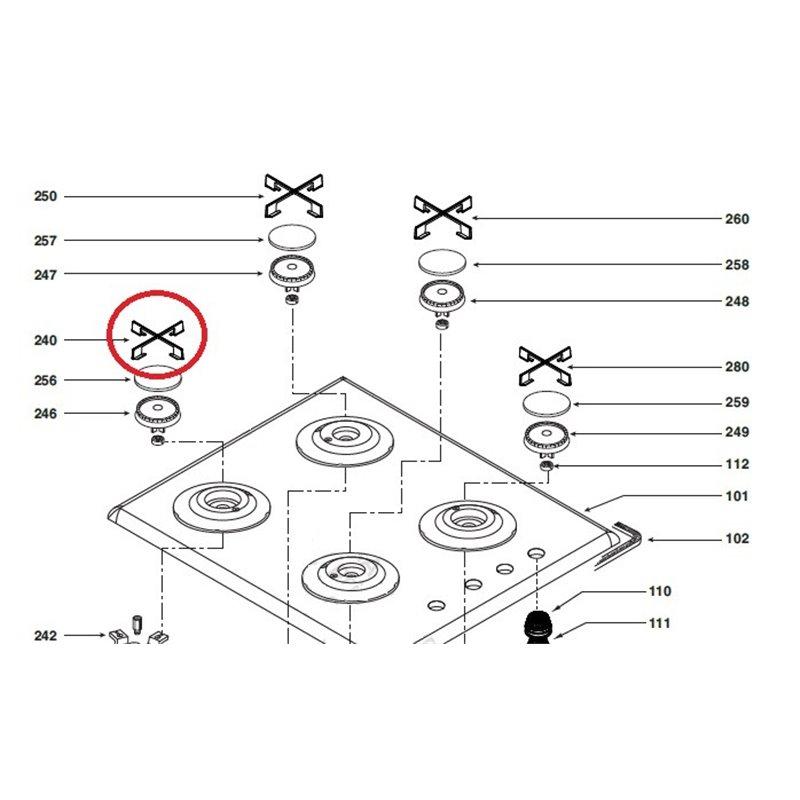 Filtre à charbon de hotte diam 241 – Brandt 79X9225