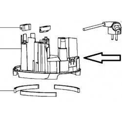 MS-4A08110 Moulinex Demi boitier inférieur blanc pour blender Soup & co