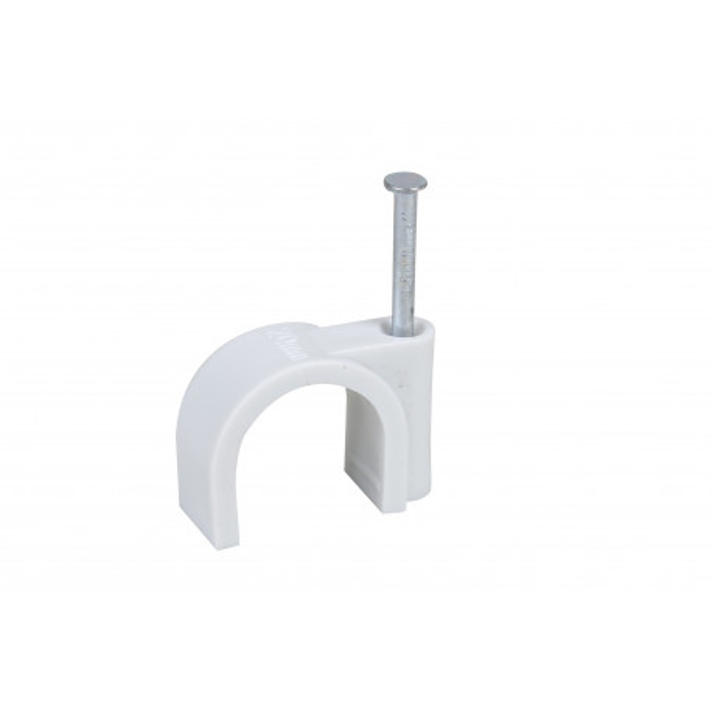 Attaches câble diamètre 8 mm blanche X20
