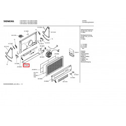 Réglette de hotte Bosch Siemens Neff