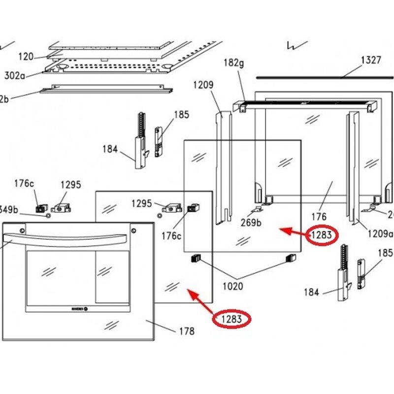 Support bras de lavage + tige bras de rinçage lave vaisselle pro HOONVED 510114