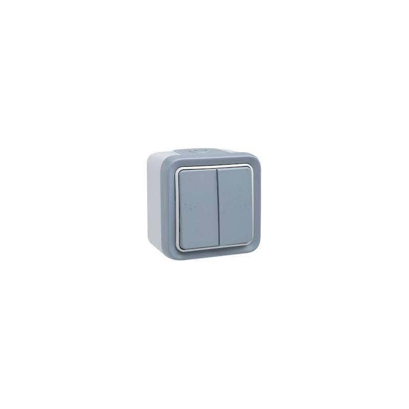 double va et vient prog plexo complet saillie gris legrand 069715. Black Bedroom Furniture Sets. Home Design Ideas