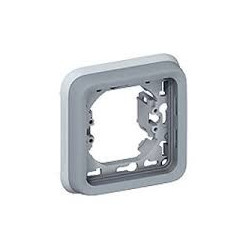 Support plaque - pour encastré prog plexo composable gris - 1 poste LEGRAND 069681