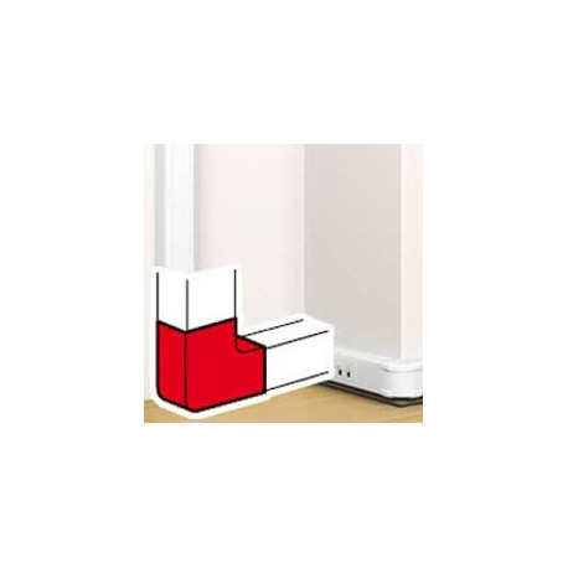 angle plat 90 pour goulotte clippage direct prog mosaic 50x105 legrand 075642. Black Bedroom Furniture Sets. Home Design Ideas
