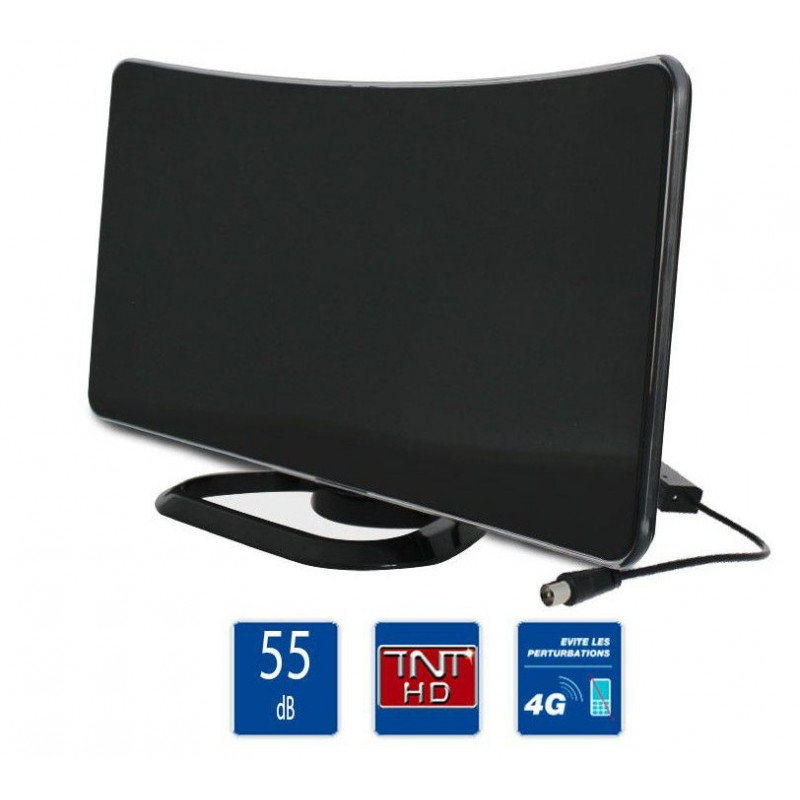 antenne int rieure curve amplifi e 55 db h414204 pi ces d tach es tv sedea. Black Bedroom Furniture Sets. Home Design Ideas