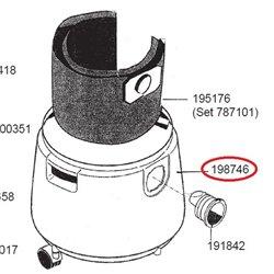 Elément chauffant pour sèche-linge professionnel Electrolux 487153162