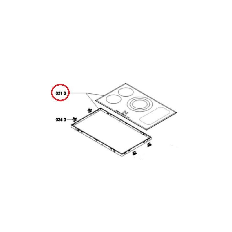 dessus verre pour table induction whirlpool 481010482410. Black Bedroom Furniture Sets. Home Design Ideas