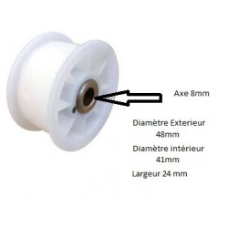 Poulie tendeur pour sèche-linge Haier 0180800243A
