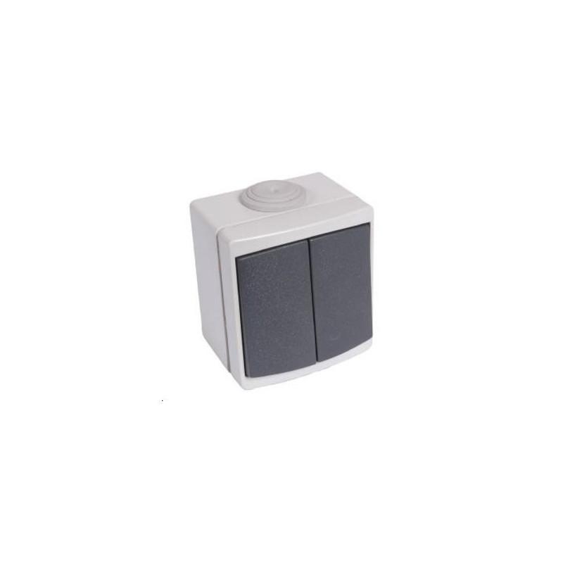 interrupteur double va et vient tanche. Black Bedroom Furniture Sets. Home Design Ideas