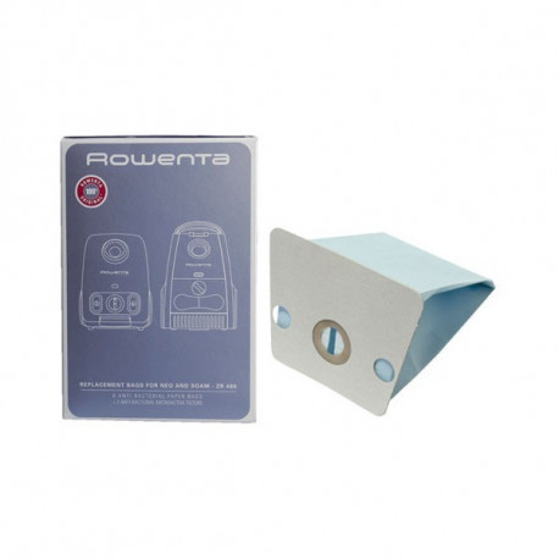 Rowenta - ZR480 - Sac Aspirateur - Boîte de Sac Antibactériens Néo - 6 Sacs