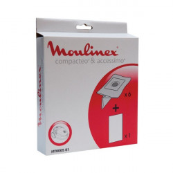 Moulinex - MT000501- Pochette 6 Sacs Papier + 1 Microfiltre Accessimo / Compactéo