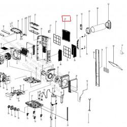 Porte filtre pour climatiseur mobile Whirlpool 482000091938