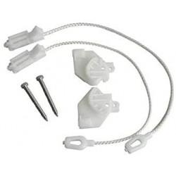 Kit de 2 tendeurs + 2 cordelettes pour lave vaisselle De Dietrich, Brandt AS0002844