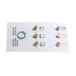 Kit injecteur gaz butane pour plaque de cuisson Beko 4431910057