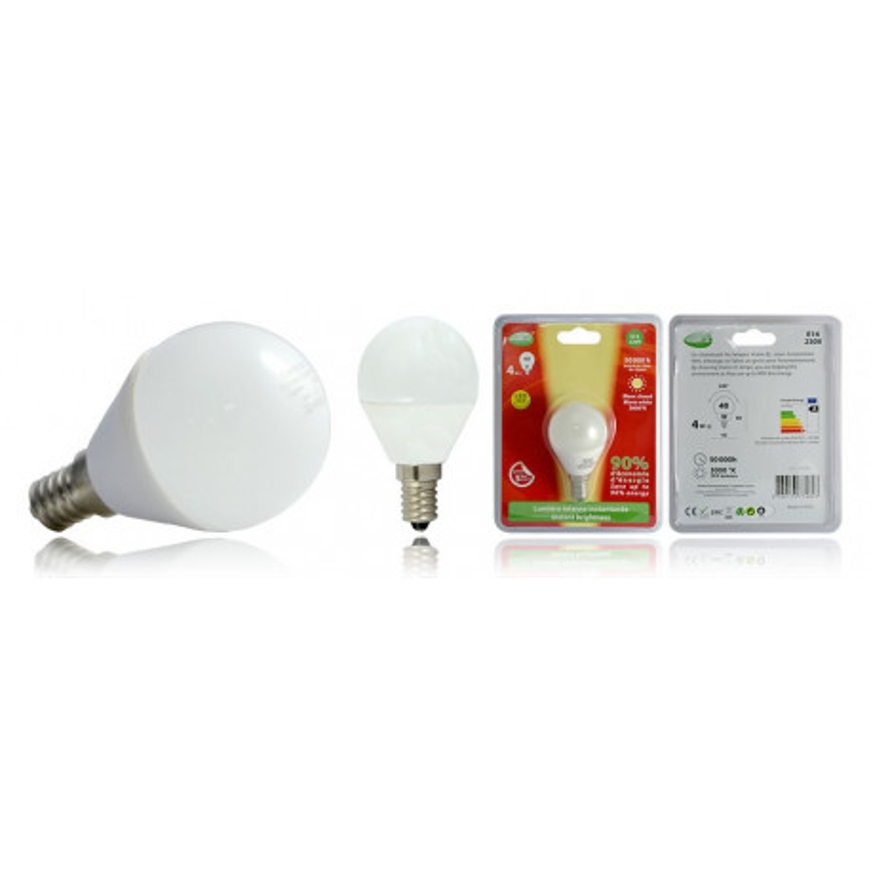 Ampoule LED E14 - Bulb - 4W - 3000k