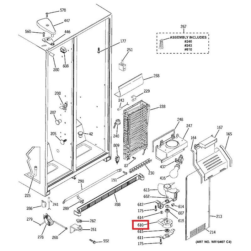 ventilateur de cong lateur general electric wr60x10074 226131000 ventilateurs general electric. Black Bedroom Furniture Sets. Home Design Ideas