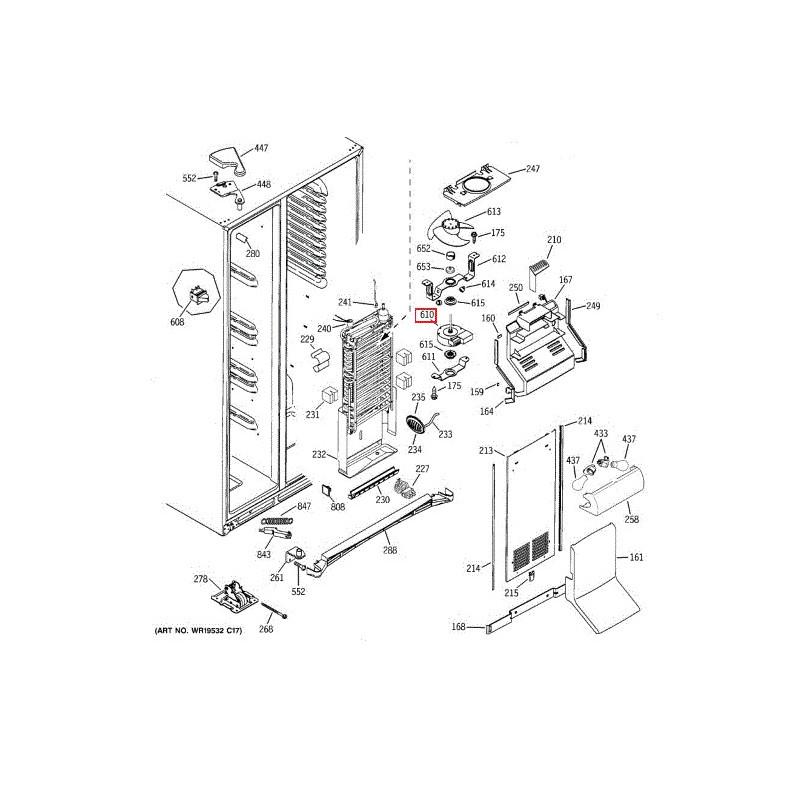 Ventilateur d'évaporateur general electric wr60x10307 226131000 ...