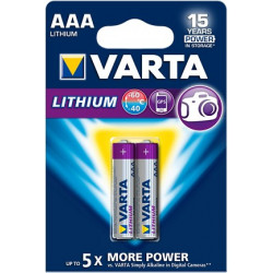 Pile Lithium Professional 1,5V - 1100mAh AAA - LR03 - Blister de 2