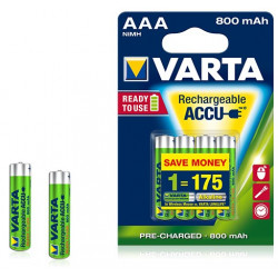 Pile rechargeable Varta Ready to Use 800 mAh 1,2V - LR03 - 56703 - Blister de 4 piles