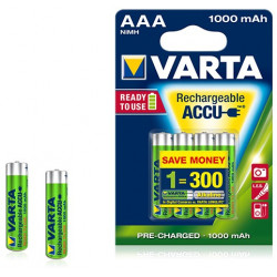 Pile rechargeable Varta Ready to Use 1000 mAh 1,2V - LR03 - 5703 - Blister de 4 piles