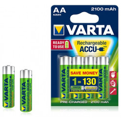 Pile rechargeable Varta Ready to Use 2100 mAh 1,2V - LR06 - 56706 - Blister de 4 piles