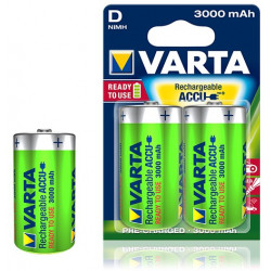 Pile rechargeable Varta Ready to use 3000 mAh 1,2V - HR20 d - 56720 - Blister de 2 piles
