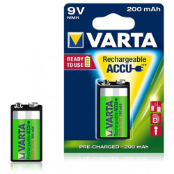 Pile rechargeable Varta Ready to use 200 mAh 9V - 56722 - Blister de 1 pile