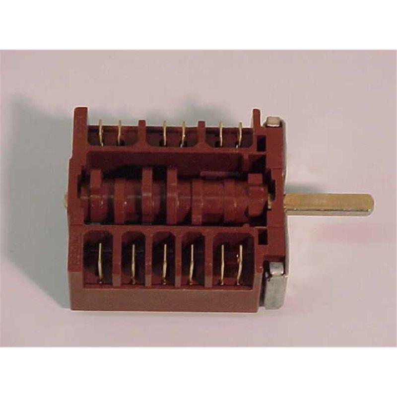 Interrupteur Bipol étanche rouge 22x30, 4 cosses