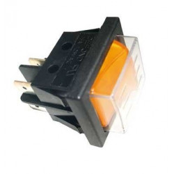Interrupteur Marche / Arrêt couleur orange pour aspirateur nettoyeur - 16 A - Polti - POM0002279