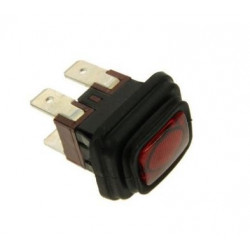 Interrupteur marche / arrêt – rouge – 4 cosses – 16A – pour nettoyeur vapeur Vaporetto - Polti – POM0005243