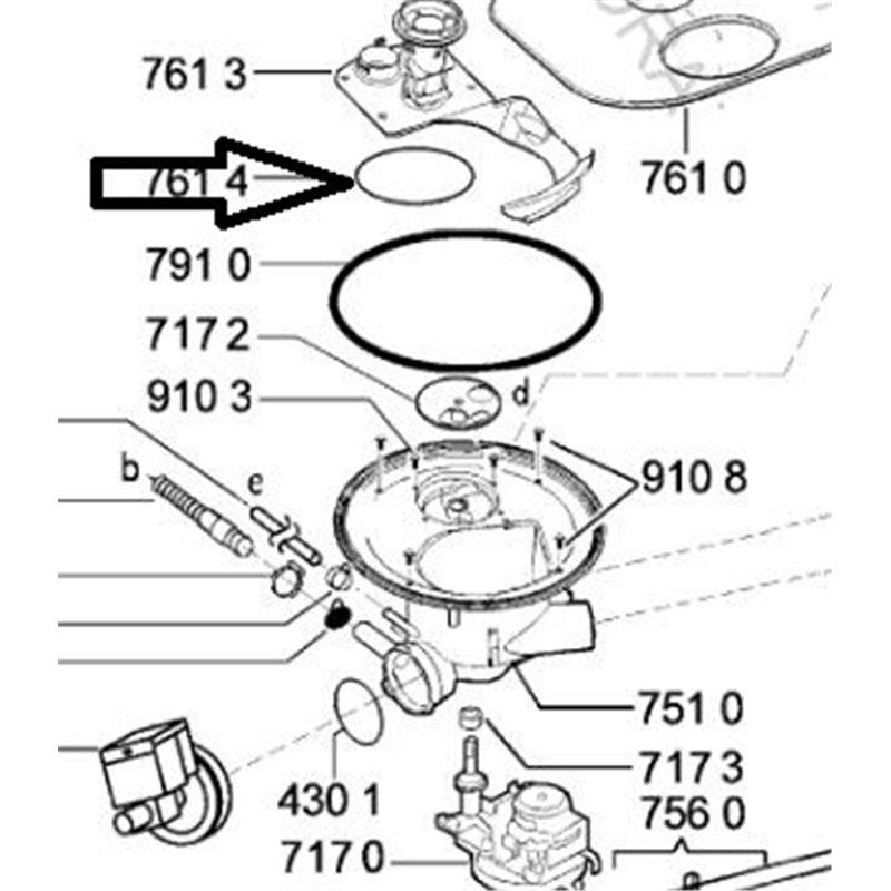 Poignée de porte pour lave-linge - Gorenje – Sidex – Far - 03010354