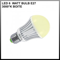 Ampoule led 6W BULB E27 3000°K BOITE