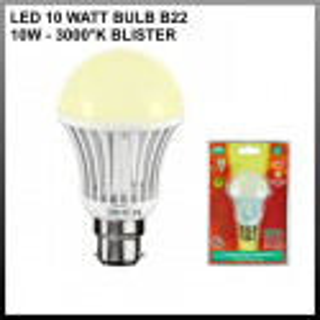 Ampoule led B22 - Bulb - 10W - 3100K ( blister )