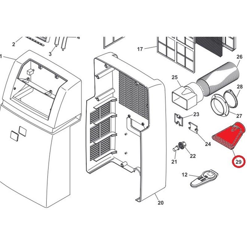 Compresseur HVY67AA 1/7 R600 pour réfrigérateur / congélateur – Ariston Indésit C00283417