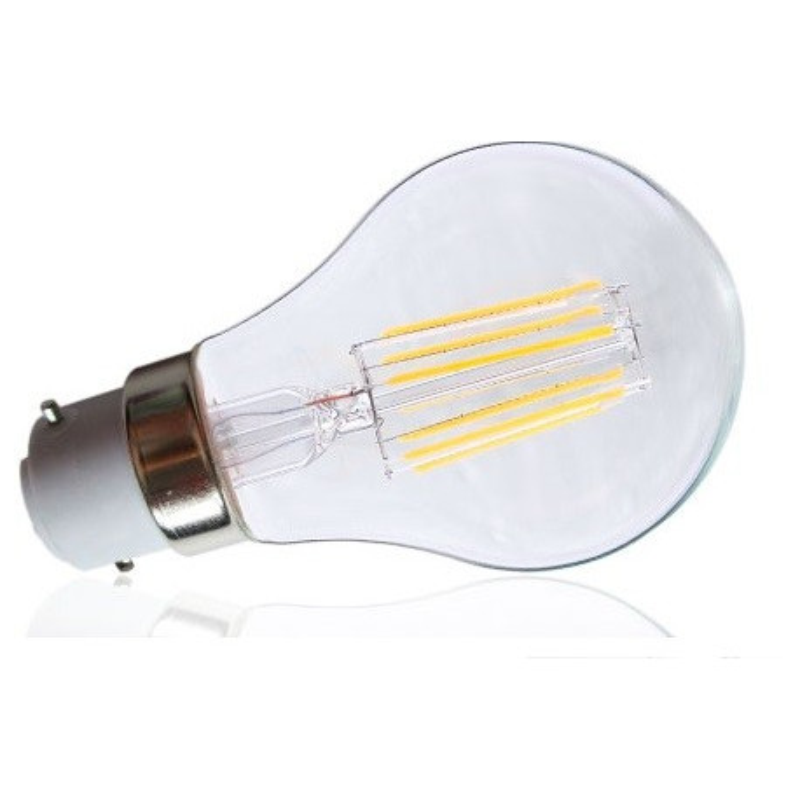 Ampoule LED COB BULB B22 8W 2700K claire