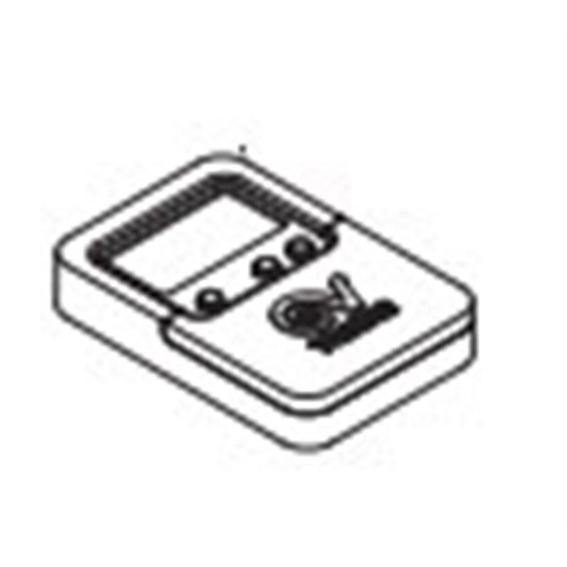 Bouton marche / arrêt gris pour lave-vaisselle – Scholtes Indésit C00195192