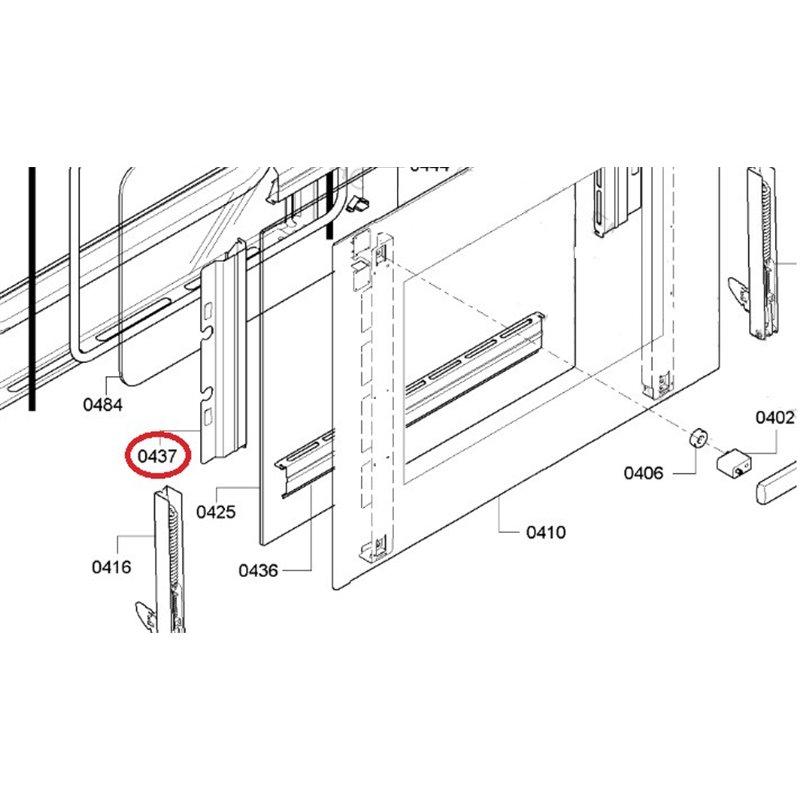 Charnière de porte – Brandt 93X1336
